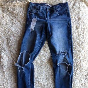 Distressed Medium Wash Denim Jeans